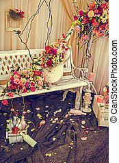 Vintage look at rustic and romantic decoration 2