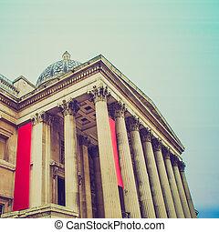 Vintage look National Gallery London
