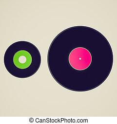 Vintage look Vinyl records
