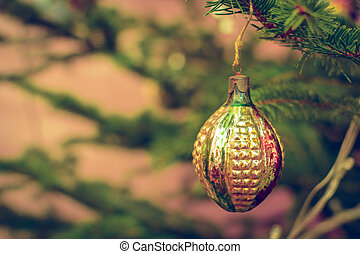 Vintage looking Bauble for Christmas tree decoration