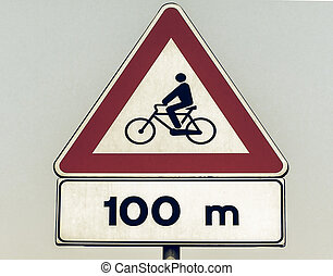 Vintage looking Bike sign