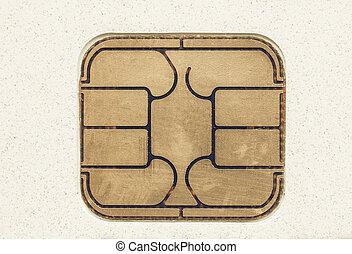 Vintage looking Card chip