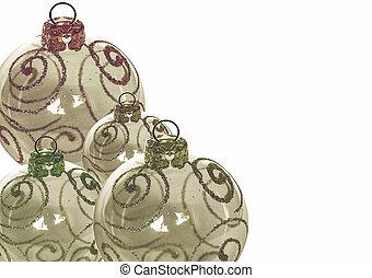 Vintage looking Christmas baubles