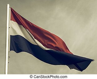 Vintage looking Flag of Luxembourg