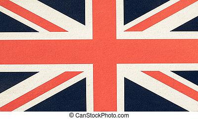 Vintage looking Flag of UK