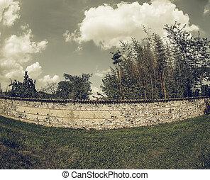 Vintage looking Old wall