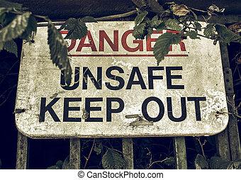 Vintage looking Sign