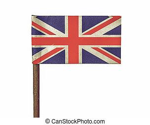 Vintage looking United Kingdom flag isolated