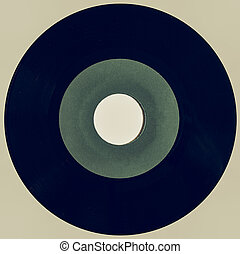 Vintage looking Vinyl record isolated
