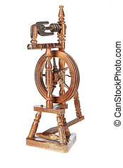 Vintage loom on a white background