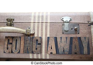 vintage luggage going away