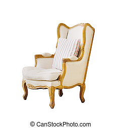 Vintage luxury armchair isolated on white