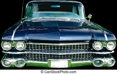 Vintage Luxury Automobile - This is the front view of a...