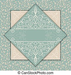 Vintage luxury card or invitation with pattern