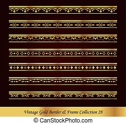 Vintage Luxury Gold Border Frame Vector Collection