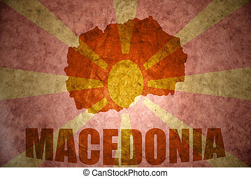 vintage macedonia map - macedonia map on a vintage...