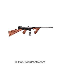 Vintage Machine Gun Old School Chicago Mafia Themed ...