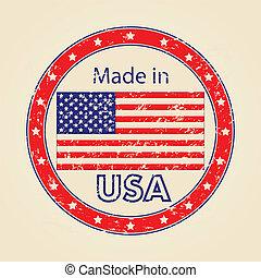 Vintage Made in USA Illustration