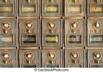 Vintage Mail Pigeonholes - vintage US mail pigeonholes with...
