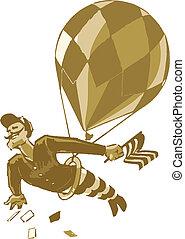Vintage Male Acrobat with Balloon