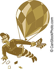 Vintage Male Acrobat with Balloon