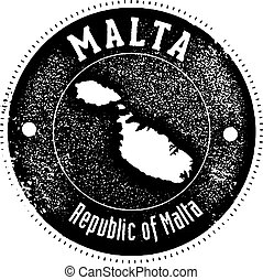 Vintage Malta Country Stamp