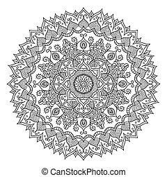 Vintage Mandala. Vector Round Ornament Tribal Pattern. Great...