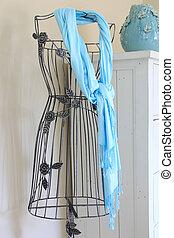 Vintage mannequin dress form stand.