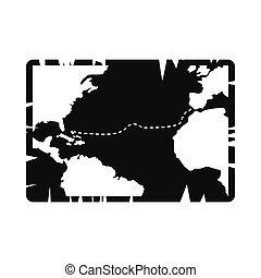 Vintage map icon