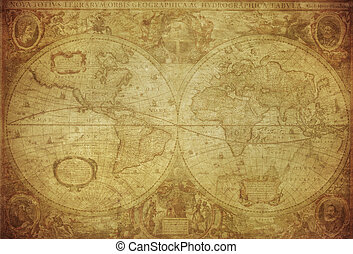 vintage map of the world 1630
