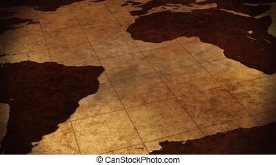 Vintage Map Of The World Background - video screen