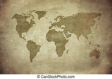 vintage map of the world