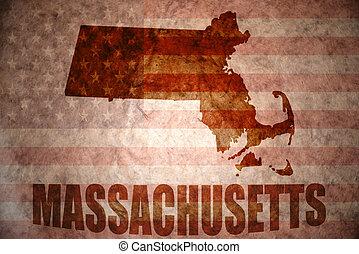 Vintage massachusetts map