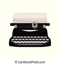 Vintage mechanical typewriter vector Illustration on a white background