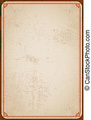 Vintage medieval brown frame