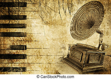 Vintage Melody Background - Artwork in Retro Style.