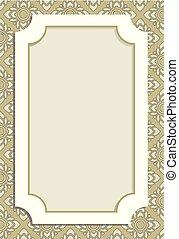vintage menu border frame on beautiful pattern