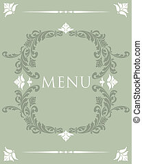 Vintage Menu Cover Design