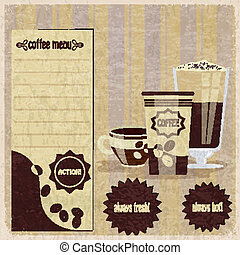 Vintage menu for cafe