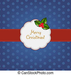 Vintage Merry Christmas Frame, Vector Illustration