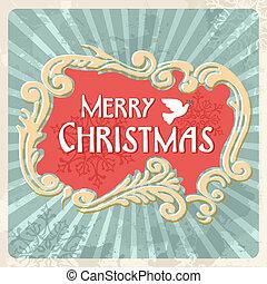 Vintage Merry Christmas sign postcard - Happy christmas...