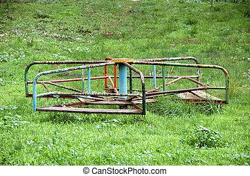 vintage merry-go-round - Vintage rusty merry-go-round....