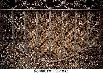 Vintage metal decoration close-up