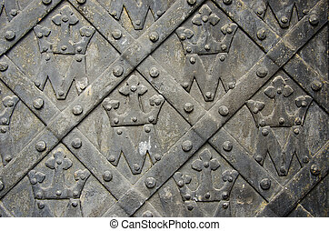 vintage metal door background