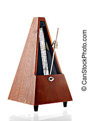 Vintage metronome - Vertical shot of a vintage metronome ...