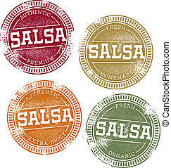 Vintage Mexican Salsa Stamps