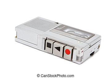 Vintage micro cassette recorder