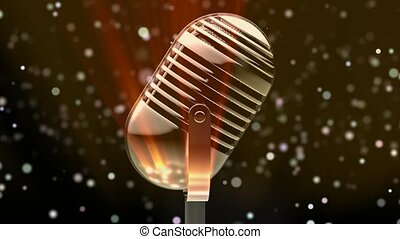 Vintage microphone for talents