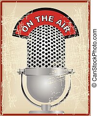 Vintage microphone on the air