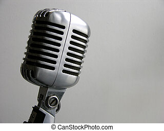 """Vintage Microphone - The retro Shure """"Elvis Mic"""" from the 50..."""